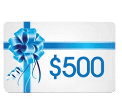 five hundred dollar gift card